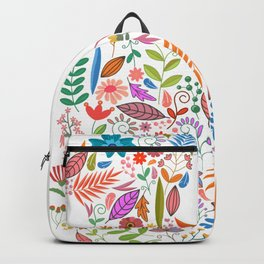 Fancy And Fine Flowered Cat Garden Design Backpack