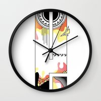 typo Wall Clocks featuring e typo by Tombst0ne