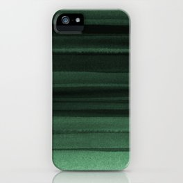 Green Watercolor Ombre iPhone Case