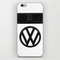 volkswagen iPhone & iPod Skins featuring Volkswagen Bus by Derek Delacroix