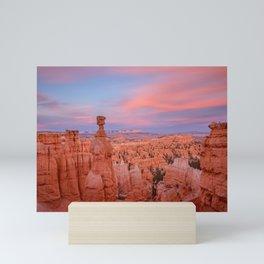BRYCE CANYON SUNSET UTAH NATIONAL PARK LANDSCAPE PHOTOGRAPHY Mini Art Print
