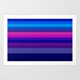 Re-Created Spectrum V by Robert S. Lee Art Print