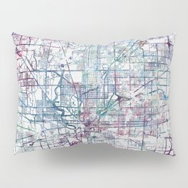 Indianapolis map Pillow Sham