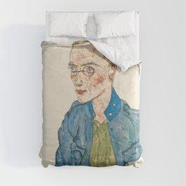 """Egon Schiele """"One-Year Volunteer Lance-Corporal"""" Comforters"""