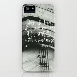 Violin with Psalms Bible Verse iPhone Case