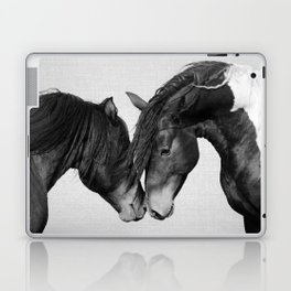 Horses - Black & White 4 Laptop & iPad Skin