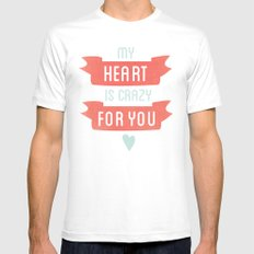 Crazy For You MEDIUM Mens Fitted Tee White