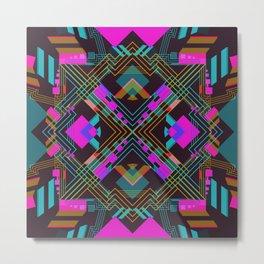 Techno Aztec III Metal Print