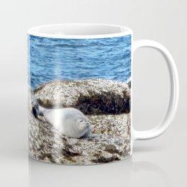 Seal Flips out on crowded rock Coffee Mug