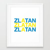 zlatan Framed Art Prints featuring ZLATAN by eyesblau