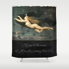 """""""Fly me to the moon"""" Shower Curtain"""