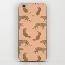 sunset leopards iPhone Skin