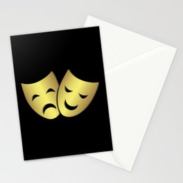 Theater masks: happy and sad faces Stationery Cards