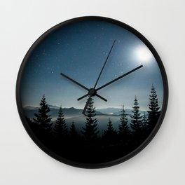 Moonlit Sonata in Blue Wall Clock