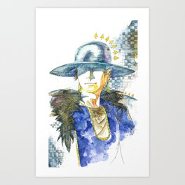 Hatted Woman Art Print
