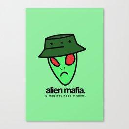 ALIEN MAFIA. Canvas Print