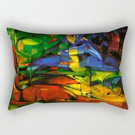 Deers in Wood by Franz Marc Rectangular Pillow