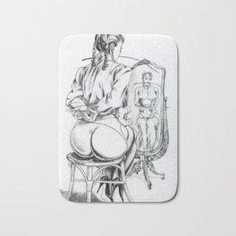 Young Lady,Spanking illustration,Discipline & Punishment Bath Mat