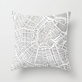 amsterdam city print Throw Pillow