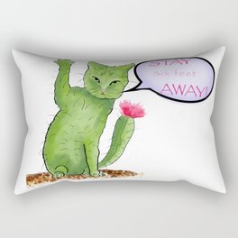 Stay away right meow Rectangular Pillow
