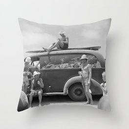 After Surf Session Throw Pillow