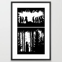 Snow White and the Seven Dwarves Framed Art Print