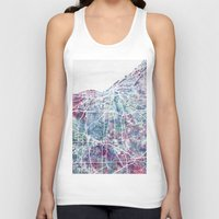 cleveland Tank Tops featuring Cleveland map by MapMapMaps.Watercolors