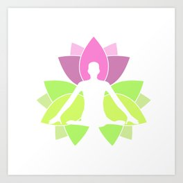 Meditation and tranquility- Lotus or padma to symbolize purity of soul Art Print
