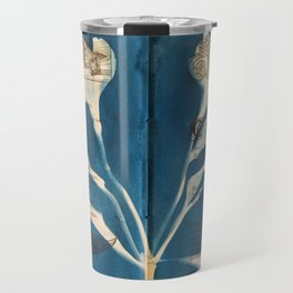 Ariel's Song - Cyanotype on Antique Book Pages Travel Mug