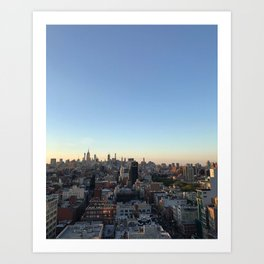 Bottom of Bowery View Art Print