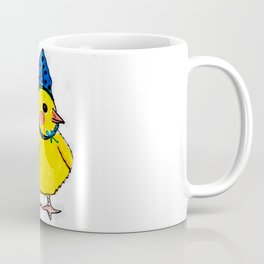 Baby Chick Wears a Blue Bow Coffee Mug