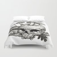 mushrooms Duvet Covers featuring Mushrooms by Arnaud Gomet