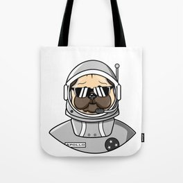 Apollo Dog in Space Suit Tote Bag