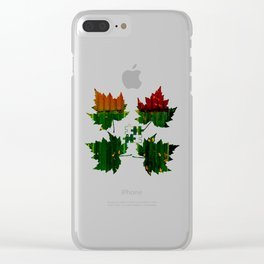 Secrets Under Fall Leaves Clear iPhone Case
