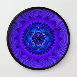 Hypnotic mandala Wall Clock