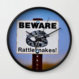 Badlands Warning Wall Clock