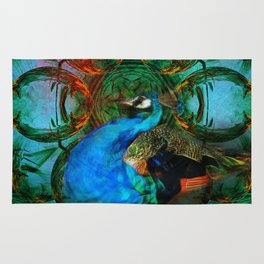 The peacock universe Rug