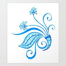 Blue Blooming Art Print