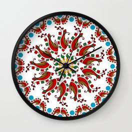 Hand drawn Mandala design Wall Clock
