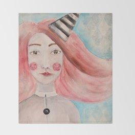 Pierrot Girl Throw Blanket