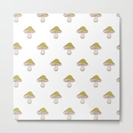 Capped Fellow - fantasy mushroom pattern Metal Print