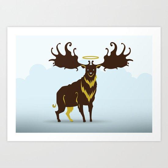 God's Zoo: Irish Elk Art Print