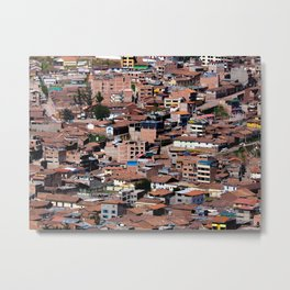 Rooftops of Peru Metal Print