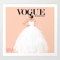 Vogue Wedding Art Print