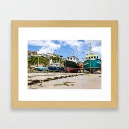 Newquay Harbour Framed Art Print