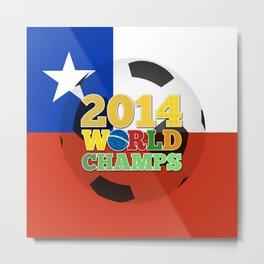 2014 World Champs Ball - Chile Metal Print
