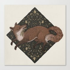 Fox Hops Canvas Print