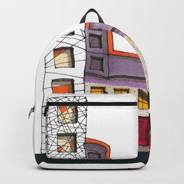 Geometric Architectural Design Illustration 99 Backpack