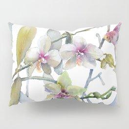White and Pink Magnolias, Goldfish hiding, Surreal Pillow Sham