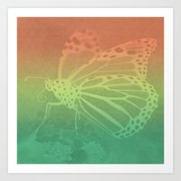 Gradient Monarch Art Print